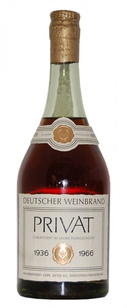 Weinbrand 1936 Brennerei Zeter