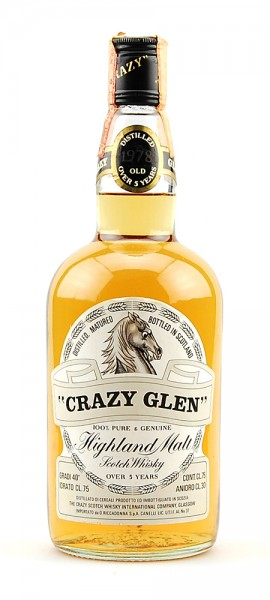 Whisky 1978 Crazy Glen Highland Malt 5 years old