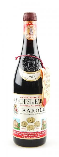 Wein 1967 Barolo Riserva Marchesi di Barolo