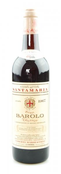Wein 1967 Barolo Classico Santamaria
