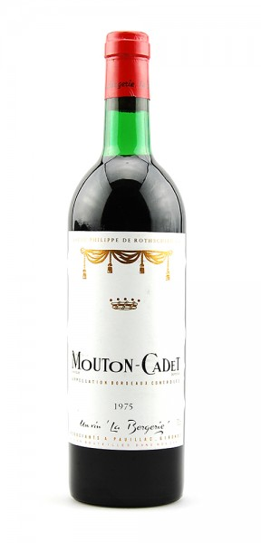 Wein 1975 Mouton-Cadet Baron Philippe de Rothschild