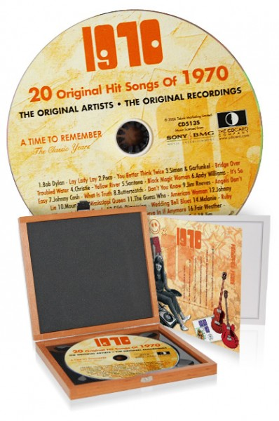 CD 1970 Musik-Hits in Luxusbox