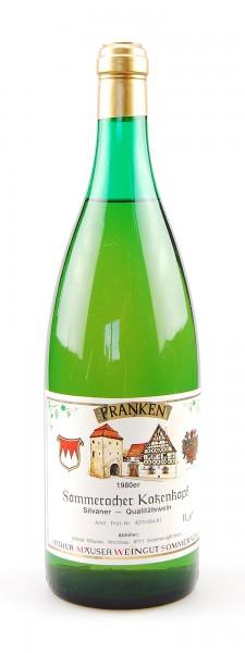 Wein 1980 Sommeracher Katzenkopf Silvaner