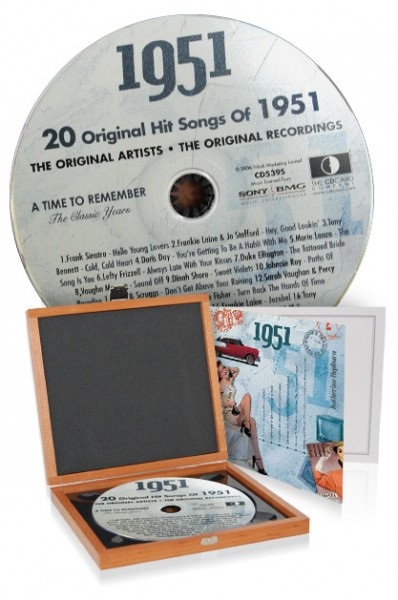 CD 1951 Musik-Hits in Luxusbox