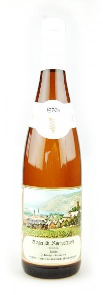Wein 1970 Binger St. Rochuskapelle Strohwein Riesling Spätlese