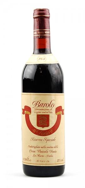 Wein 1974 Barolo Dosio Riserva Speciale
