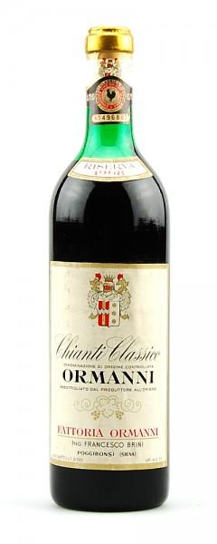 Wein 1968 Chianti Classico Riserva Fattoria Ormanni