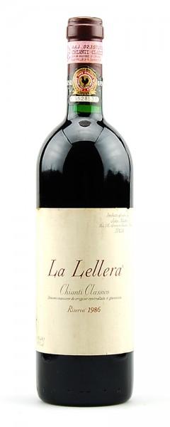 Wein 1986 Chianti Classico Riserva La Lellera