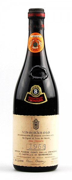 Wein 1966 Barolo Bersano Riserva Speciale Cremosina