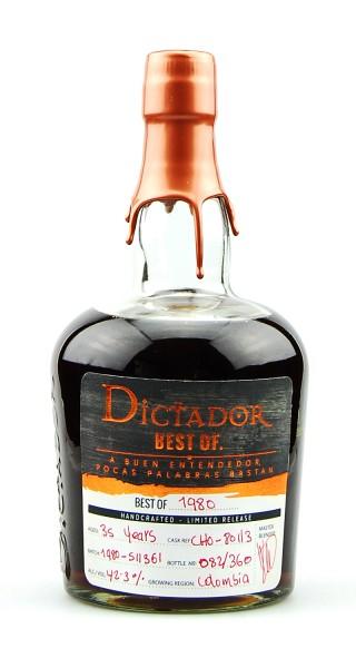Rum 1980 Dictador Vintage Single Cask 35 Jahre
