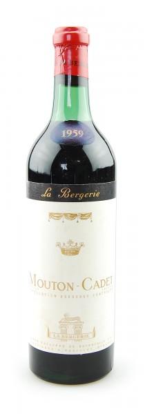 Wein 1959 Mouton-Cadet Baron de Rothschild